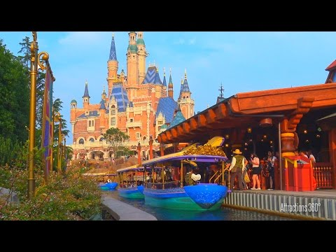 [4K] Voyage to the Crystal Grotto Boat Ride - Shanghai Disneyland