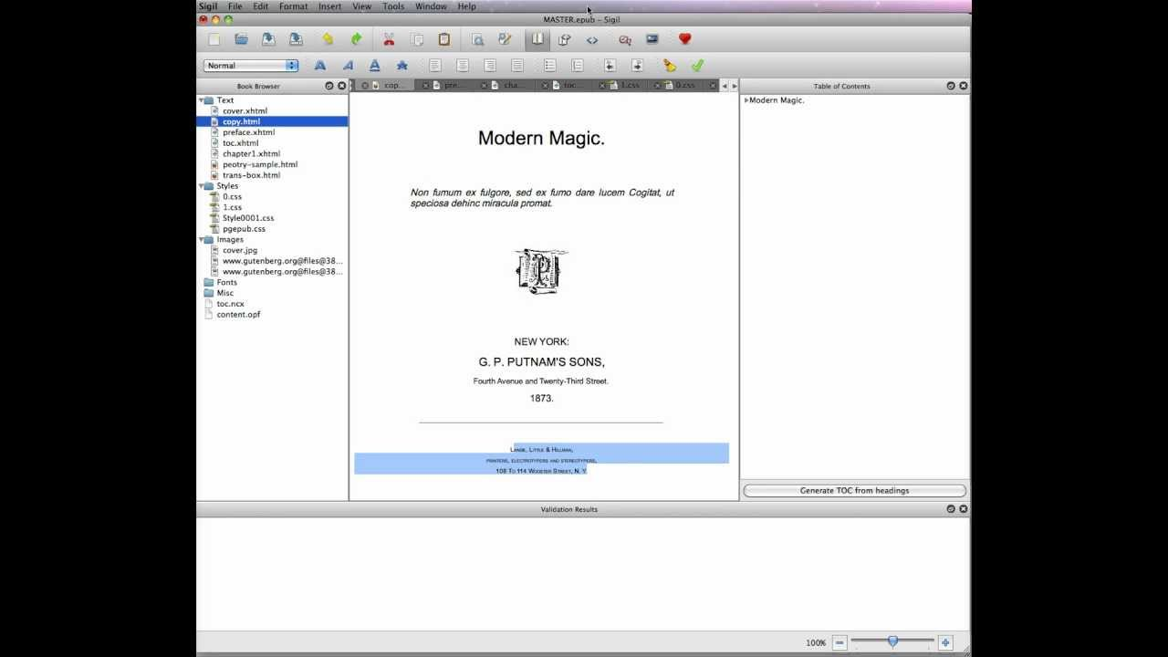 creating a master ebook template in sigil css stylesheets part 7