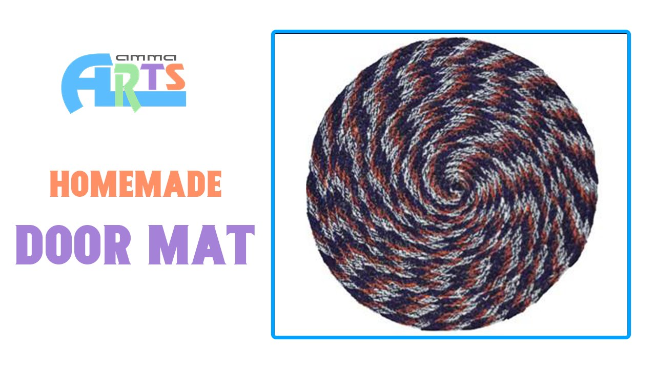 Homemade Door Mat Making Handmade Crafts In Amma Arts Youtube