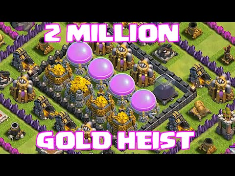 Clash Of Clans - Top 5 Raids!! (2 Million Gold Heist)