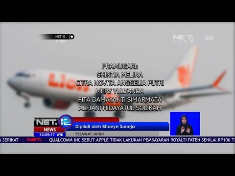 Data Crew Pesawat Lion Air JT 610 - NET 12 Mp3