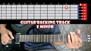 METAL HARDROCK Wild Melodic In E Minor Guitar Backing Track | 120 bpm