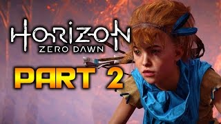 Horizon Zero Dawn Walkthrough Part 2 - Lessons of the Wild | PS4 Pro Gameplay