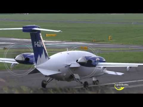 Good Looking Piaggio Avanti P.180 F-GZPE - Close Up Take Off - Gloucestershire Airport