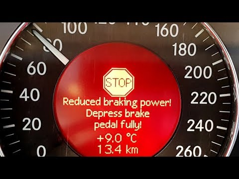 Speed Of 80 Km/h Brakes Failed On Mercedes W211/ How To Stop The W211 If Failure SBC System