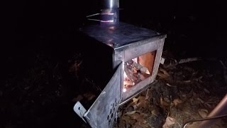 Hot Tent Wood Stove Winter Overnight Backpacking Bushcraft Survival