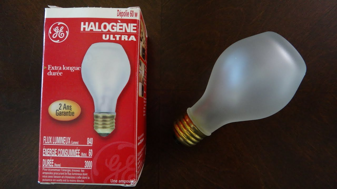GE watt Halogen Ultra Light Bulb