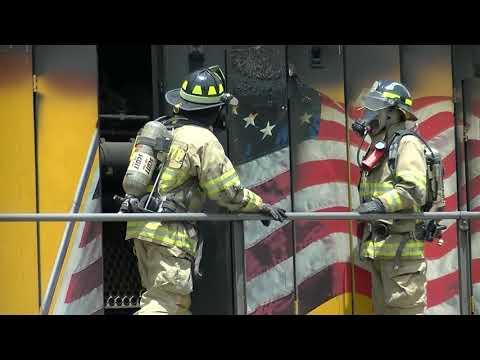 HD: 6/2/18 La Plata, MO Firefighters Put Out Train Fire