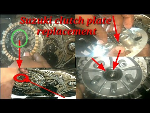 How to replacement clutch plate for Suzuki GS 150 R