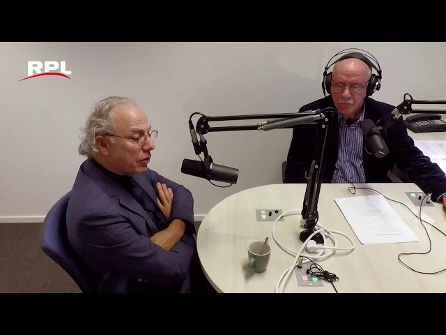 Victor Molkenboer in Radio studio met Lambert Reijns - RPL Actueel