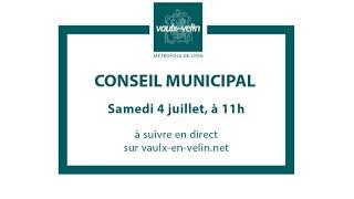 Conseil municipal<br/>4 juillet 2020