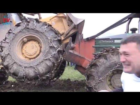 Fight Caterpillar 518 Vs Timberjack 380 B in Croatian - YouTube