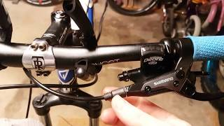 Jak zkrátit brzdové vedení/ hadičku u brzd SHIMANO M315 doma - aneb s Brňákem v garáži