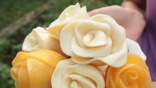 как сделать розу из сыра