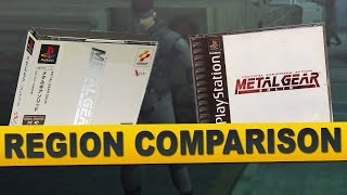 Metal Gear Solid for PlayStation (Region Comparison)