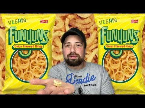 I JUST FOUND VEGAN FUNYUNS!?! [REVIEW]