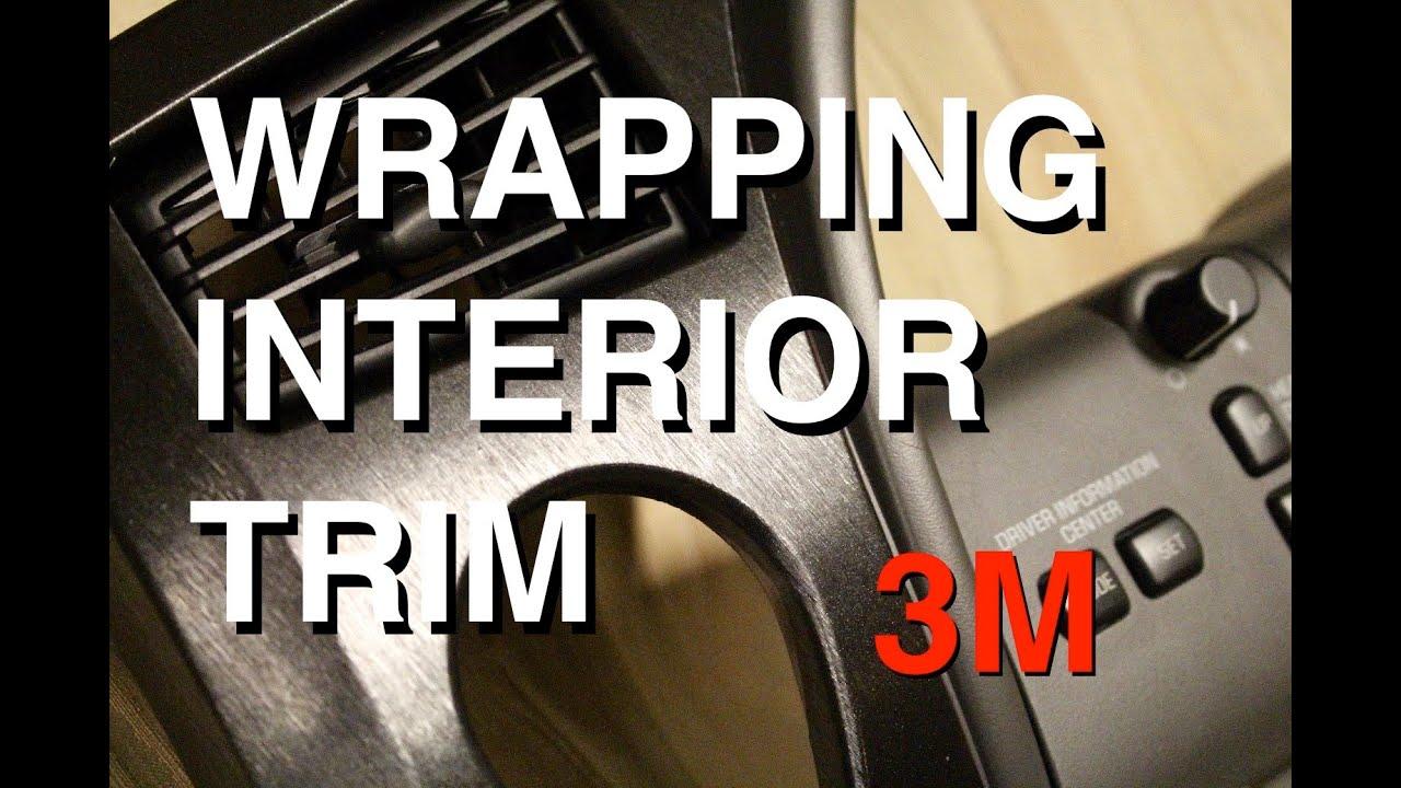 How to Vinyl Wrap Interior Trim Pieces 3M Brushed