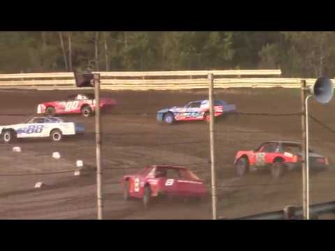 Hummingbird Speedway (9-7-19): Sunny 106.5 FM Pure Stock Heat Race #2