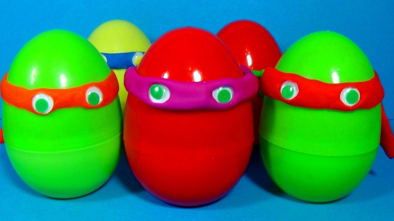 Uova di Sorpresa di Tartarughe di Tartarughe Ninja di Play-Doh Uova di Tmnt Unboxing-8731