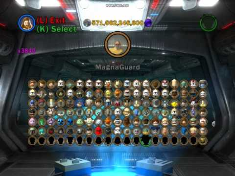 Lego Star Wars 3 The Clone Wars All Playable Characters Unlocked