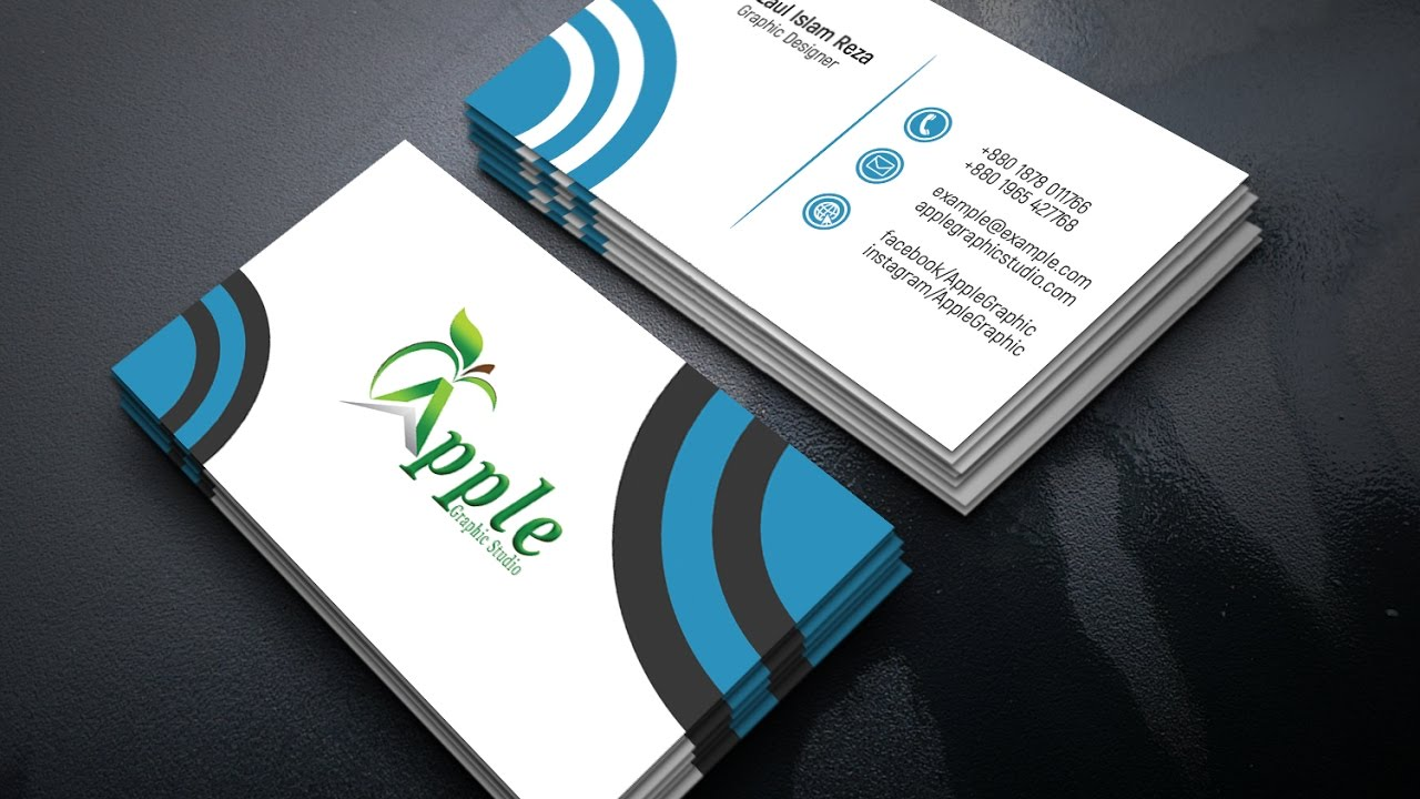 Cool professional business card design in photoshop youtube cool professional business card design in photoshop apple graphic studio magicingreecefo Choice Image