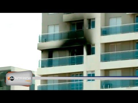 Incêndio em apartamento mobiliza Bombeiros em Rio Preto