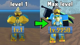 I Reached Max Level 2250 In King Piece Roblox! Noob To Master