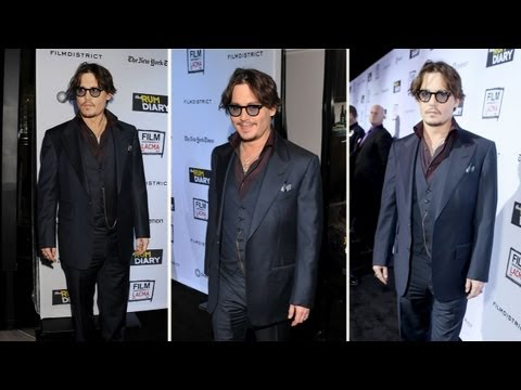 Johnny Depp Gets Sweet and Sentimental at The Rum Diary Premiere