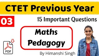15 Most Asked Questions of Maths Pedagogy for CTET-2019 | Live!