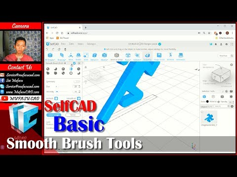 SelfCAD Smooth Face With Sculpt tools Tutorial thumbnail