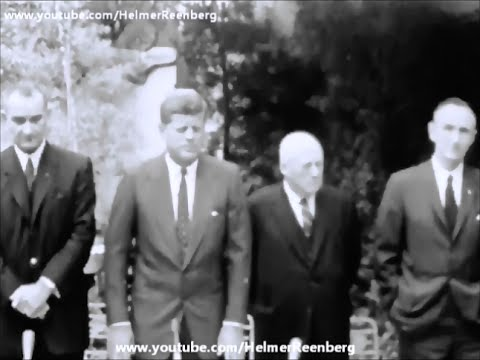 December 20, 1960 - President-Elect John F. Kennedy meets Lyndon Johnson, M. Mansfield & S. Rayburn