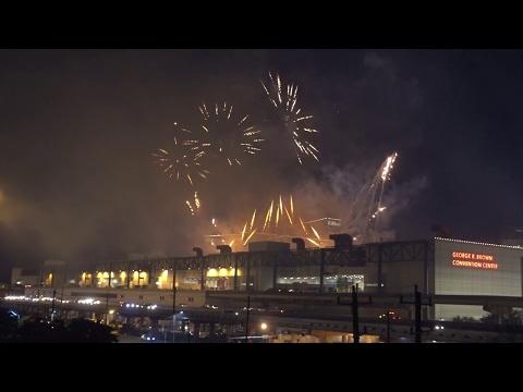Superbowl 51 Week - NFL Live Fireworks Display in Downtown Houston, TX (1/28/2017) - super bowl 51