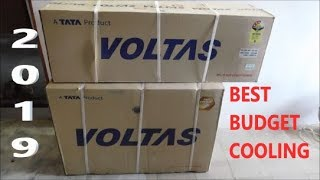 VOLTAS Split Air Conditioner(2019) 183 DZZ Unboxing & Review after 3 mth use. (Hindi)