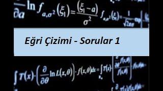 50) MATEMATİK 1(CALCULUS 1) - Türevin Uygulamaları- Eğri Çizimi - Sorular 1