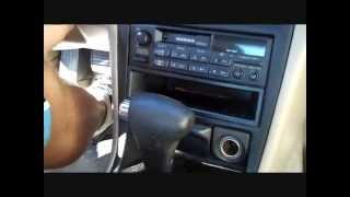How to Honda Accord car Stereo Removal 1994 - 1997 replace tape repair