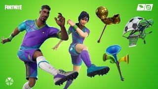 Fortnite Soccer Skin & finesse finisher & poised playmaker & clinical crosser