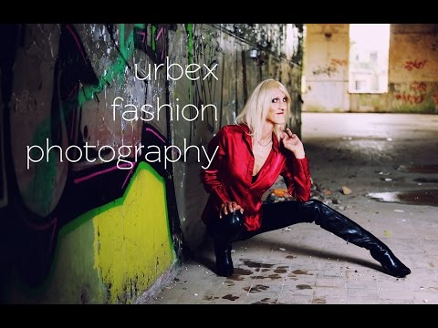 on location with lexi 📷 urbex strobist fashion self portrait photography