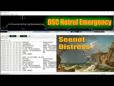 DSC Seenot Funk Kurzwelle empfangen / DSC distress shortwave