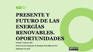 Webinar Presente y Futuro de las Energías Renovables