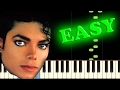 Download MICHAEL JACKSON - BEAT IT - Easy Piano Tutorial MP3 song and Music Video