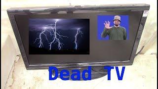 Lightning Power Surge Strike TV DEAD
