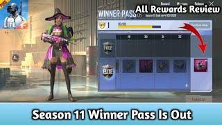 WINNER PASS SEASON 11 Is Out || Full Rewards Review PUBG MOBILE LITE