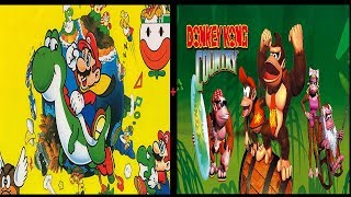 Super Mario World + Donkey Kong Country 100% RetroaAhievements
