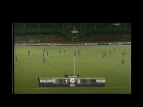 2nd half MALDIVES 1 INDIA 0