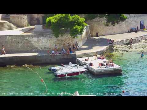 Hvar Webcam Recording from 17.Aug.2016. - Summer day