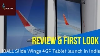 IBall Slide WINGS 4GP Tablet First Look & Specifications