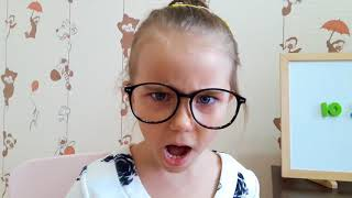 Elina and Julia play in the School  Why you can not eat Skittles at lessons Funny video for kids