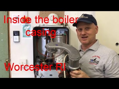WORCESTER RI HEAT ONLY BOILER, Inside The Boiler Casing Doing Full Review And Strip Down.