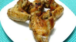 Baked Mojo Garlic Chicken Wings