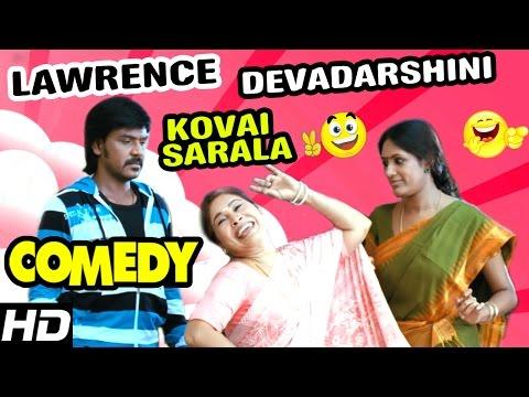 Raghava Lawrence - Kovai Sarala Comedy | Kanchana Scenes | Muni 2 | Sriman | Devadarshini | Manobala
